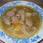 Суп с клецками из потрошков