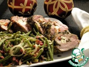 Рецепт Фаршированная свиная вырезка