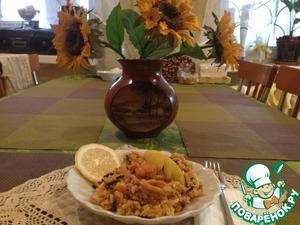 Рецепт Плов из дикого риса с морепродуктами