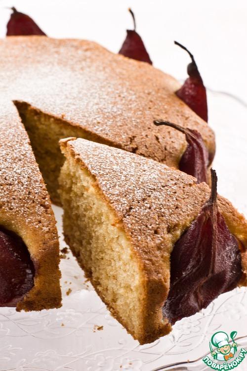 Пирог с винными грушами