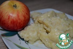 Рецепт Галушки из яблок