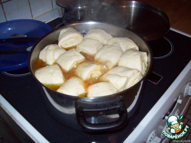 Мясо с тестом рецепт пошаговый