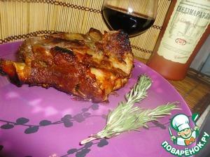 Рецепт Баранье бедро, запеченное в духовке