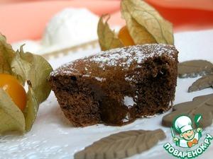 Рецепт Шоколад в шоколаде с ванильным мороженым