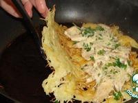 Курица в ажуре из картофеля ингредиенты