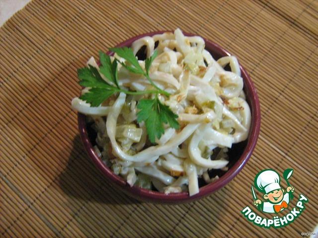 готовим салат из кальмар фото
