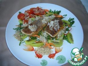Рецепт Запеченный козий сыр с гарниром из овощей и фруктов