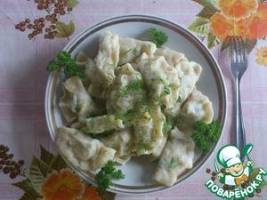 Рецепт Вареники с картофелем и печенью