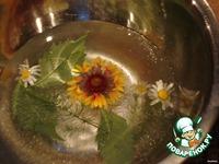 Ледяная чаша с живыми цветами ингредиенты
