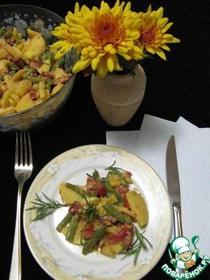 Рецепт Картофельный салат со стручковой фасолью