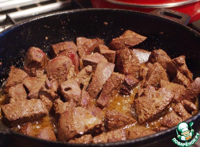 Печенка на сковороде рецепт с фото