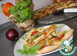 Рецепт Pizza Toskana Пицца по-тоскански с овощами