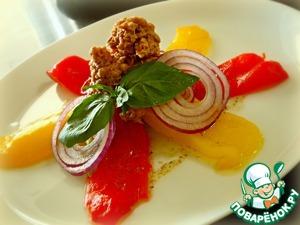 Рецепт Салат с тунцом и печеным перцем