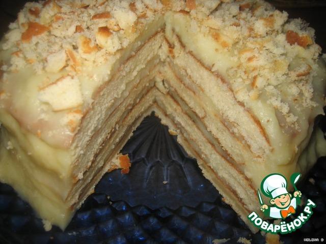 Творожный торт из коржей