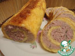 Рецепт Сырно-мясной рулет