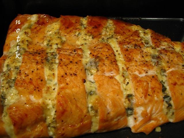 Форель с голубым сыром домашний рецепт с фотографиями #5