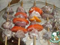 Шашлычки из печени индейки ингредиенты