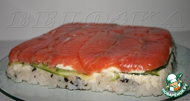 салат суши торт рецепт