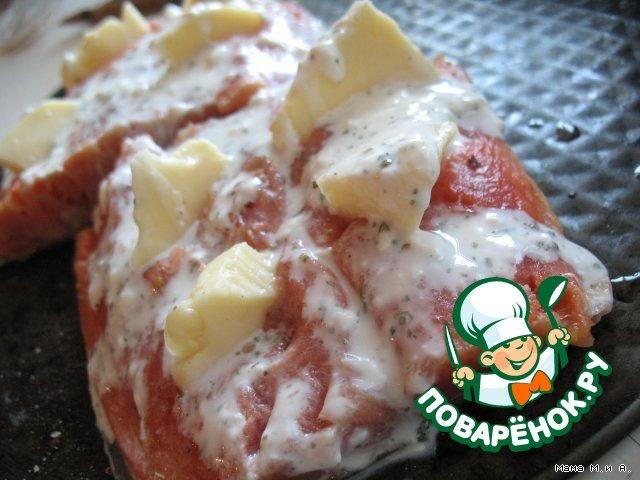 Рыбное филе с сырными кармашками домашний рецепт с фото пошагово #2