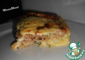 Рецепт Хлебно-сырная запеканка к завтраку