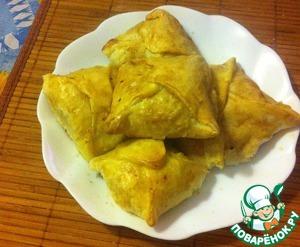 Рецепт Слойки с курино-овощной начинкой