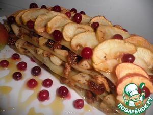 Рецепт Яблочная лазанья с изюмом и орехами