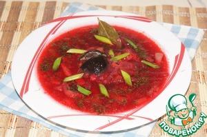 Рецепт Рассольник из свеклы с солеными грибами