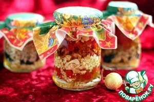Рецепт Орехи и сухофрукты в меду «Презент 2»