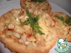 Рецепт Тарталетки с курицей и картошкой