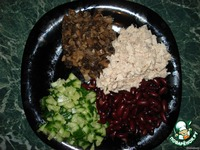 Салат с курицей и фасолью ингредиенты