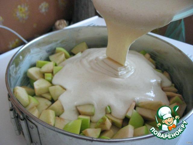 Как приготовить Простая шарлотка с яблоками вкусный рецепт с фото #3