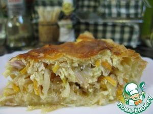Рецепт Ароматный капустный пирог