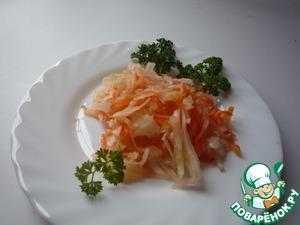 Рецепт Капуста квашеная с яблоком и морковью