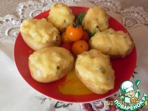 Рецепт Картофель с творожным сыром