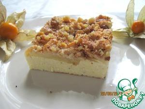 Рецепт Творожно-яблочная запеканка с карамельным кремом