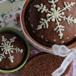 Шоколадный хлеб в глиняном горшке
