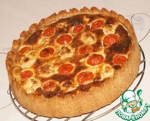Рецепт Песочно-маковый пирог с курицей и цветной капустой