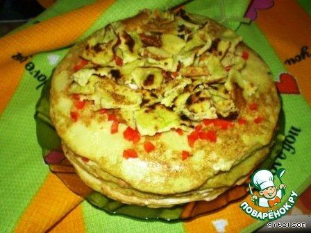 Кабачково-яичный торт - кулинарный рецепт