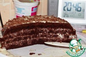 """Рецепт Торт """"Шоколад на кипятке"""" (для мультиварки"""