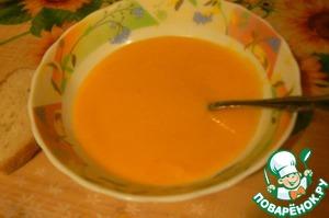 Рецепт Суп-пюре из тыквы с имбирем и сельдереем