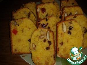 Рецепт Кекс кокосовый с орехами и цукатами