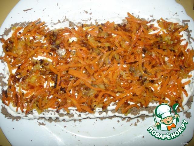 Салаты с жареной морковью и луком
