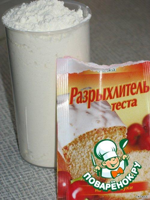 Кекс масло яйца мука сахар разрыхлитель