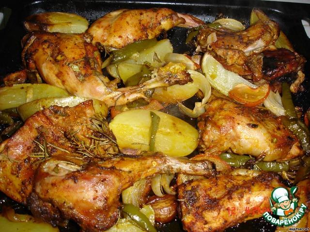Тушеная картошка с кроликом в духовке рецепт