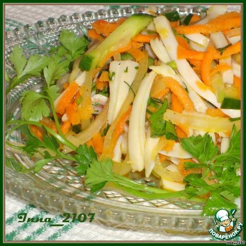 салат из кальмаров рецепт перец