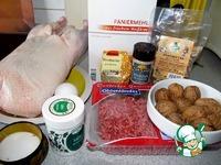 Рождественская утка с грибами и орехами ингредиенты