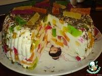 """Желейный тортик """"Мозайка"""" ингредиенты"""