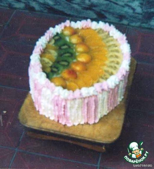 Торт с фруктами фото пошагово в домашних условиях