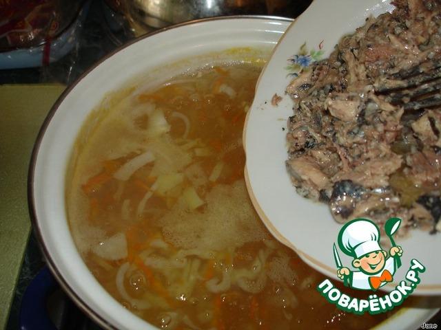 Как приготовить вкусный рецепт с фото Суп из консервов #9