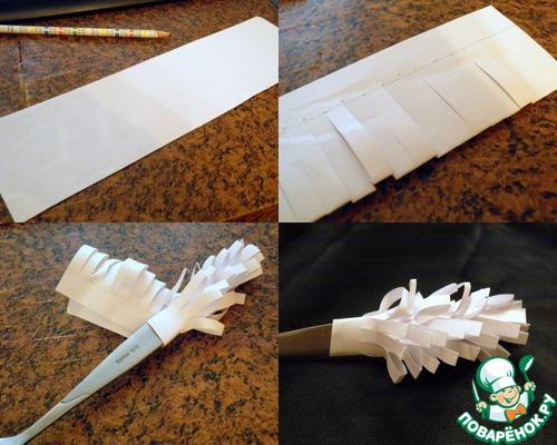 Как сделать бумажную папильотку